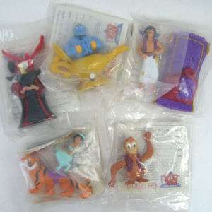 ALADDIN Burger King SET of 5 Kids Meal Toys Disney
