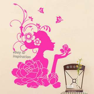 75X54CM Girl Wall Paper Art Sticker Decor Home Decal Sticker