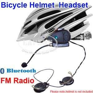 Motorcycle Bicycle Bike Helmet Bluetooth Headsets FM Radio Speakers