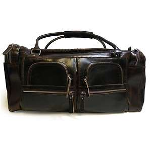 Grain Leather Overnight Traveler/Gym Bag L68