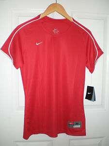 Nike Women Dri Fit Mystic Team Jersey Top Shirt Scarlet Red S M NWT$35