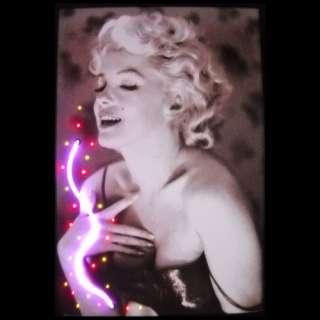 Neonetics Marilyn Monroe with Perfume Neon Poster Sign Decor