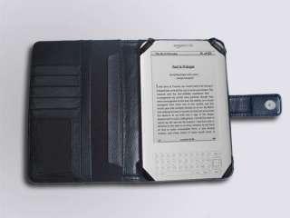 Kindle 3 eBook Leather Case Cover Jacket Black
