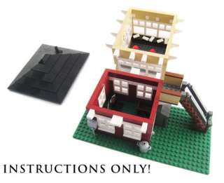 Lego City Custom Train Signal Box   INSTRUCTIONS ONLY