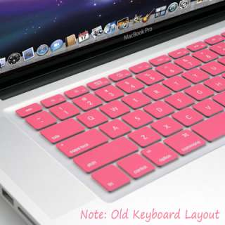 Pink Silicon Keyboard Cover Skin for Macbook Air Pro 13 15 17 US model