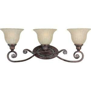 Forte Lighting Three Light Vanity Light in Rustic Spice