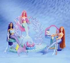 New 03 Mattel Barbie Mermaid Fantasy Doll Playset House Furniture