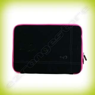 Black/Pink Laptop Sleeve Case Bag Cover for Apple Macbook Pro Notebook