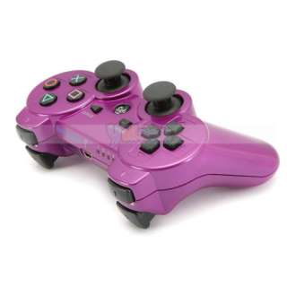 Hot Deep Purple Bluetooth Wireless Game Controller Sony PS3