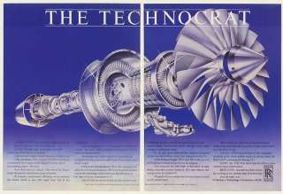 1984 Rolls Royce RB211 535E4 Jet Engine 2 Page Ad