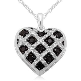 FINE JEWELRY PINK DIAMOND PAVE NECKLACE HEART PENDANT 10k ROSE gold