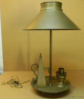 Vintage Colonial Decorative Brass Large Table Lamp Leviton