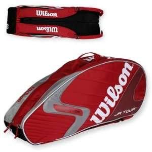 Wilson KFactor K Tour Junior 6 Pack Tennis Bag   Red